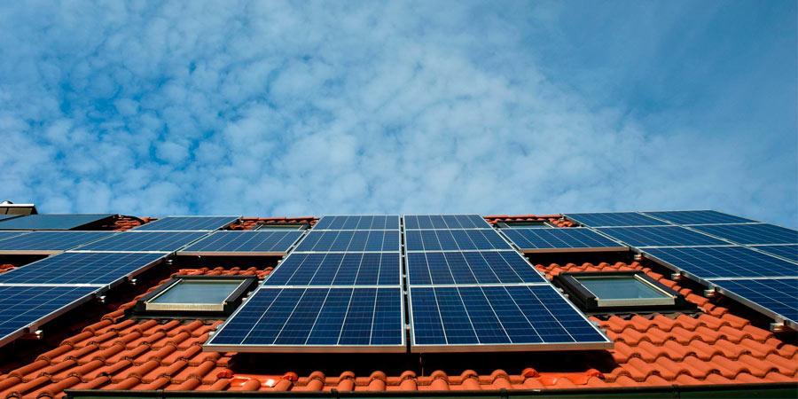 placas solares en techo